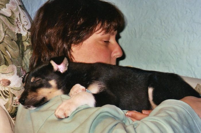 First nap with my new furever Mommy, 11/14/04